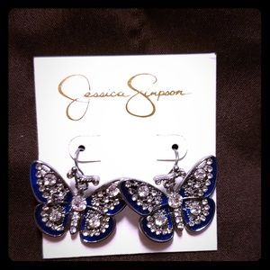 Jessica Simpson butterfly earrings